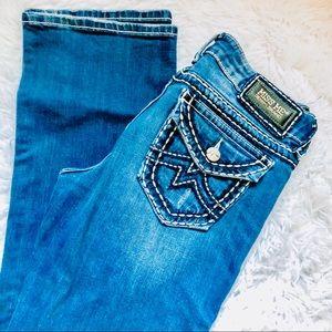 MISS ME • Denim Bootcut Dark Wash Jeans • Size 30